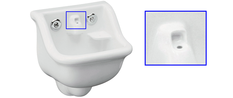 The Chardon K 2475 Sink Has A Bubbler/water Fountain Spout That Comes Out  Of The Sink Hole Located Between The Handles.