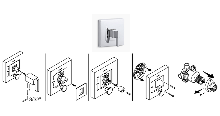 How to Remove Single-Control Bath or Shower Trim to Identify