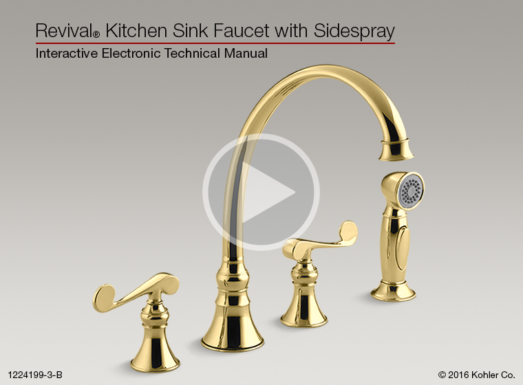 Revival Kitchen Faucet With Sidespray