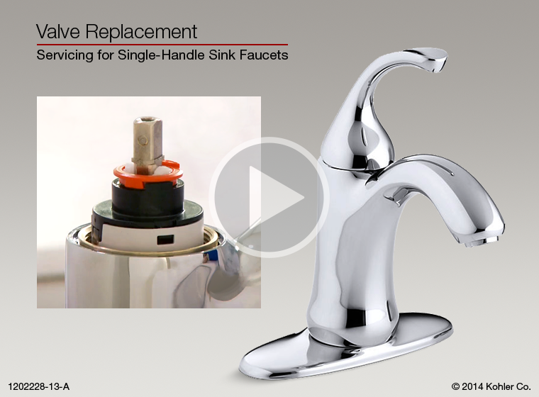 Delta bathroom sink faucet repair - Instructional Video Valve Replacement For Single Handle Sink Faucets
