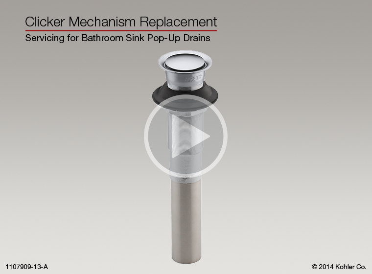 Instructional Video Clicker Mechanism Replacement For Bathroom Sink Pop Up