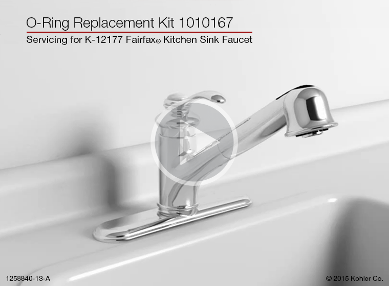 oring replacement on the k12177 fairfax kitchen sink faucet