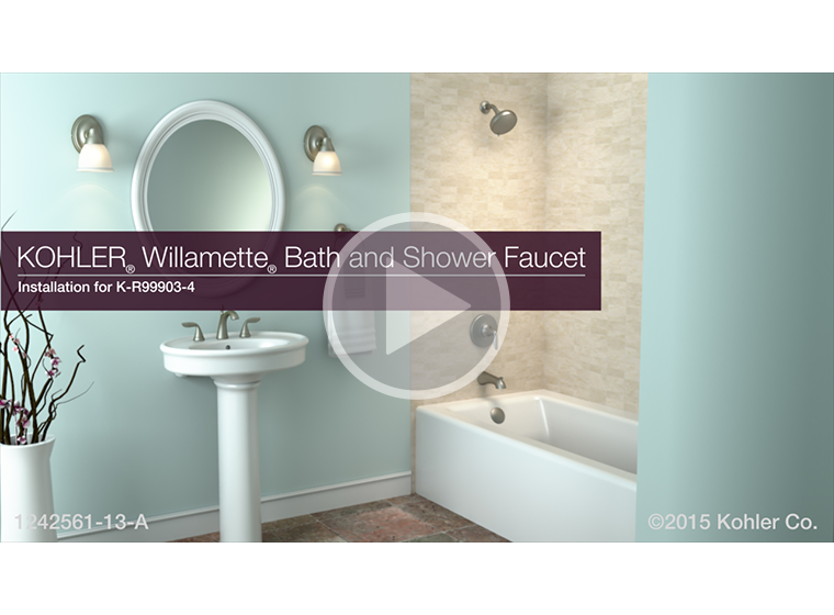 VIDEO - K-R99903-4 Willamette® Bath and Shower Faucet Installation ...