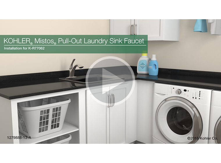 VIDEO - K-R77062 Mistos® Pull-Out Laundry Sink Faucet Installation