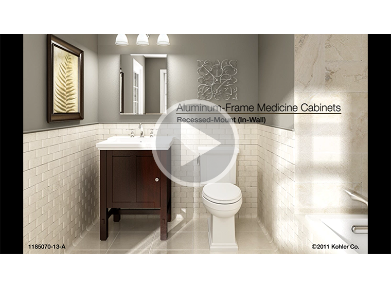 VIDEO   Recessed Mount Aluminum Frame Medicine Cabinets Installation