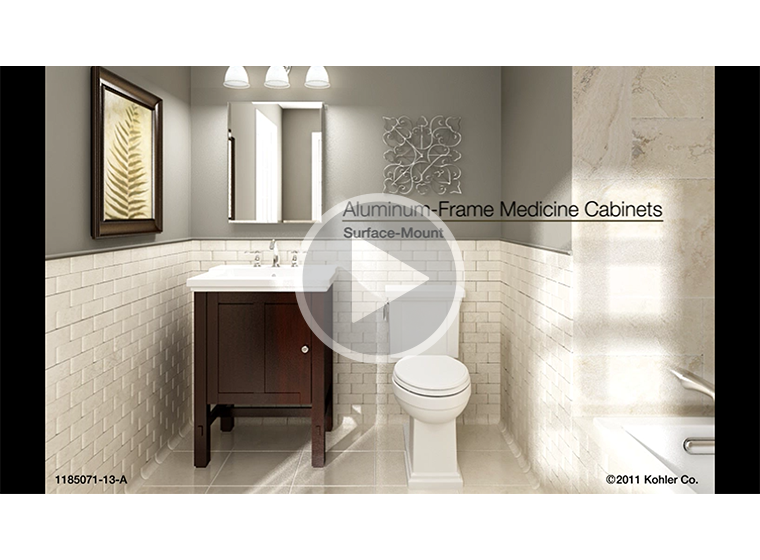 VIDEO   Surface Mount Aluminum Frame Medicine Cabinets Installation