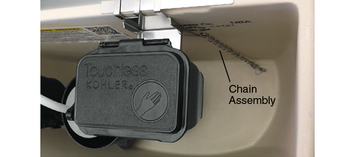 Order Chain Embly K 1219268 Hang The From Mounting Bracket Letting It Dangle In Water This Reduces Sensor Sensitivity To Tank