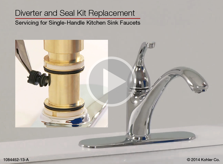 replacing kitchen sink taps kohler kitchen faucet diverter valve replacement besto 4765