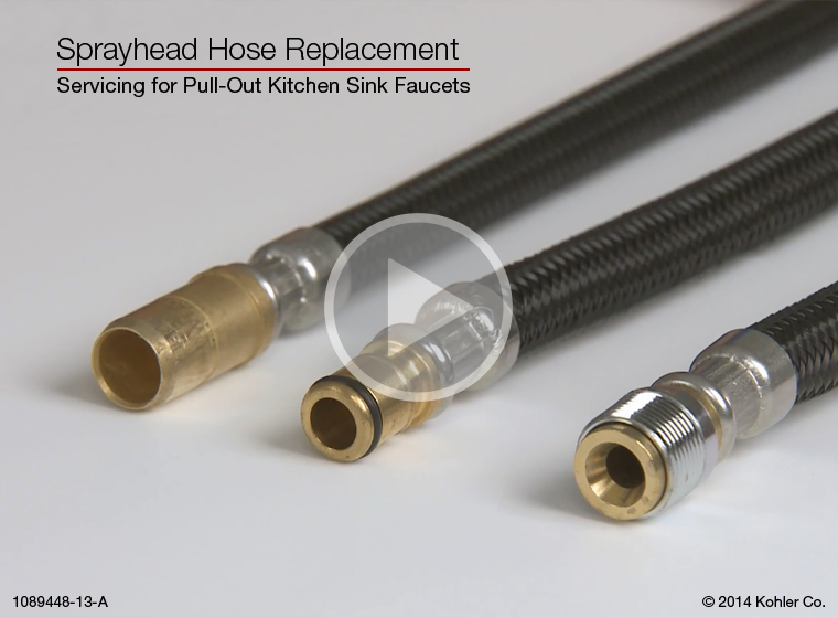Video Pull Out Kitchen Sink Faucets Sprayhead Hose Replacement