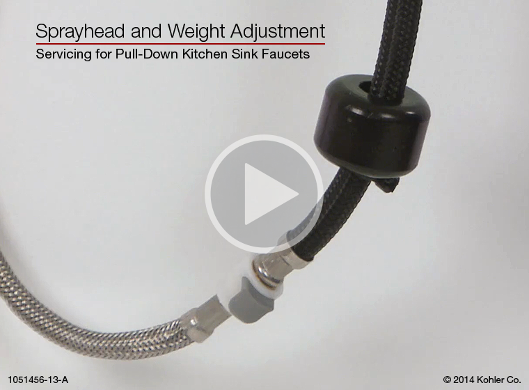 Video Pull Down Kitchen Sink Faucets Sprayhead And Weight Adjustment