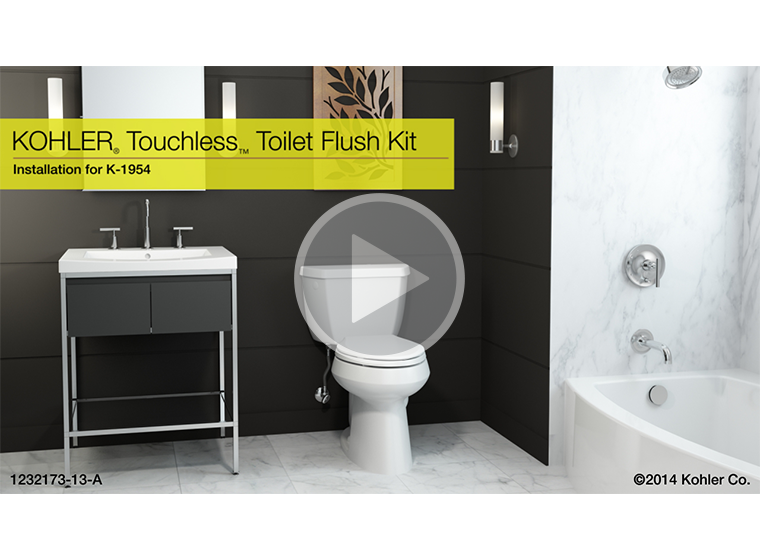 This Video Demonstrates Step By Installation Instructions For The Touchless Toilet Flush Kit To A With Fler Valve
